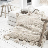Lasusha Cushion - Cushions - losari - bohemian fashion - white - soft - beautiful