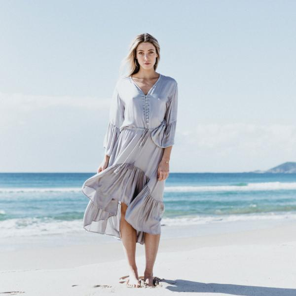 La Luna Dress - Dresses - losari - bohemian fashion - white - soft - beautiful