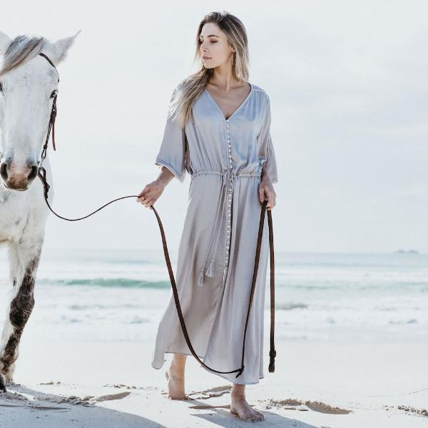 Serendipity Maxi - Dresses - losari - bohemian fashion - white - soft - beautiful