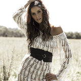 Surrender Crochet Maxi - dress - white - My Wild Heart Collection - bohemian fashion - Losari