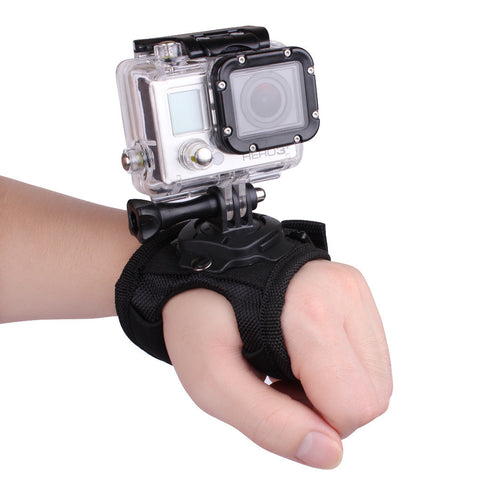 GoPro Hero 4/3+/3/2/1 360 Degree Rotation Glove-style Palm Band Mount wrist Strap Accessories for GoPro Hero 4/3+/3/2/1 Camera