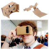 "DIY Google Cardboard Virtual Reality VR Mobile Phone 3D Viewing Glasses for 5.0"" Screen Google VR 3D Glasses"