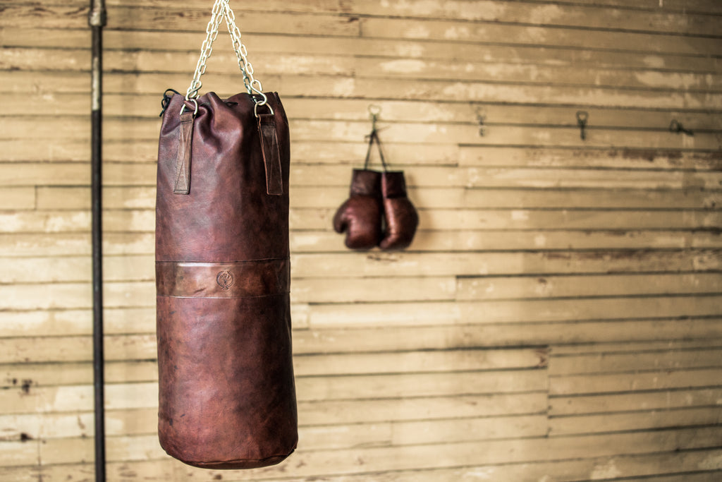 Designer Vintage Brown Leather Heavy Punching Bag Boxing