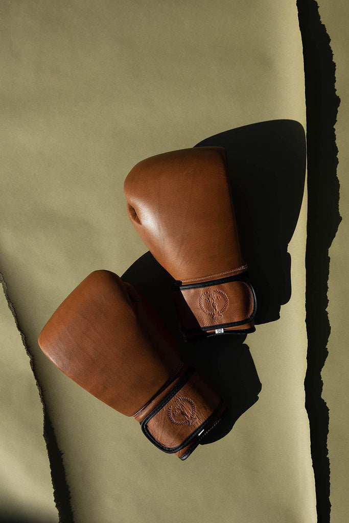 PRO Heritage Brown Leather Boxing Gloves