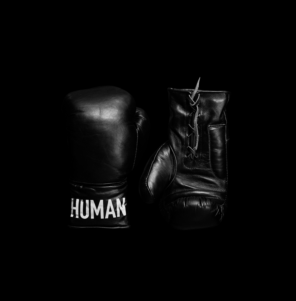 Custom Logo Leather Boxing Gloves Lace Up