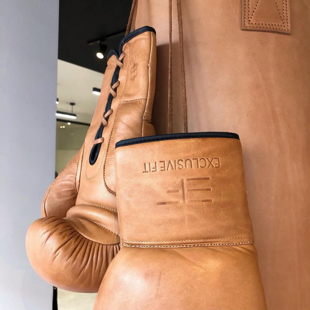 Vintage Leather Boxing Punching Bag Tan