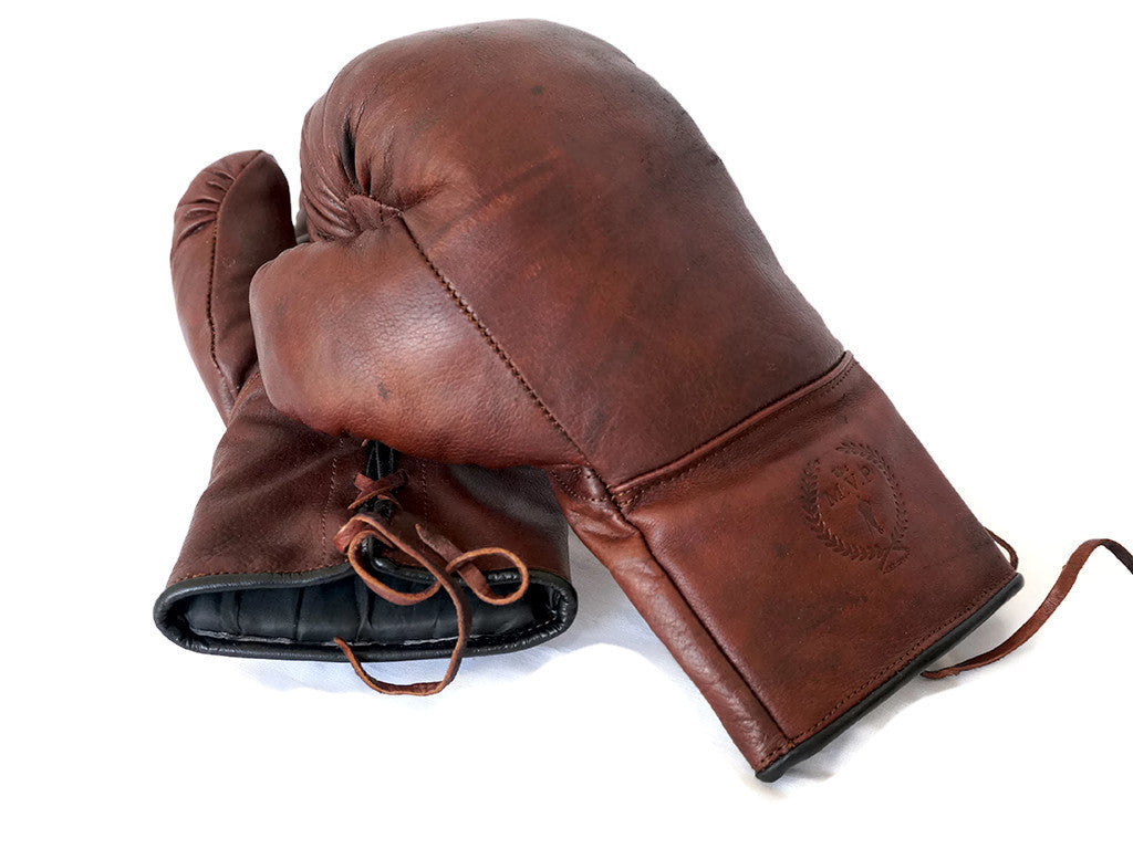 MVP Heritage Brown Leather Boxing Gloves