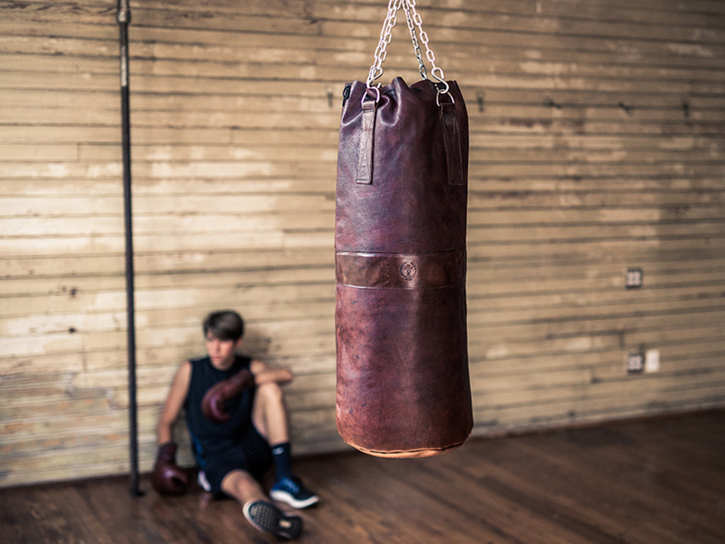 Retro Antique Leather Boxing Heavy Punching Bag
