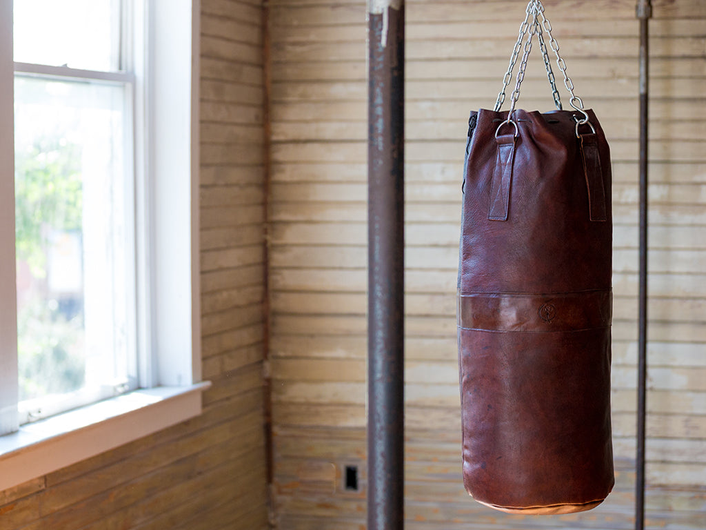Retro Vintage Leather Heavy Boxing Punching Bag