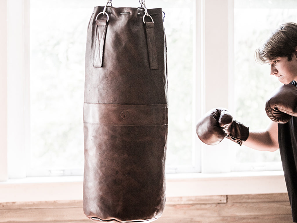 Vintage Leather Heavy Punching Boxing Bag