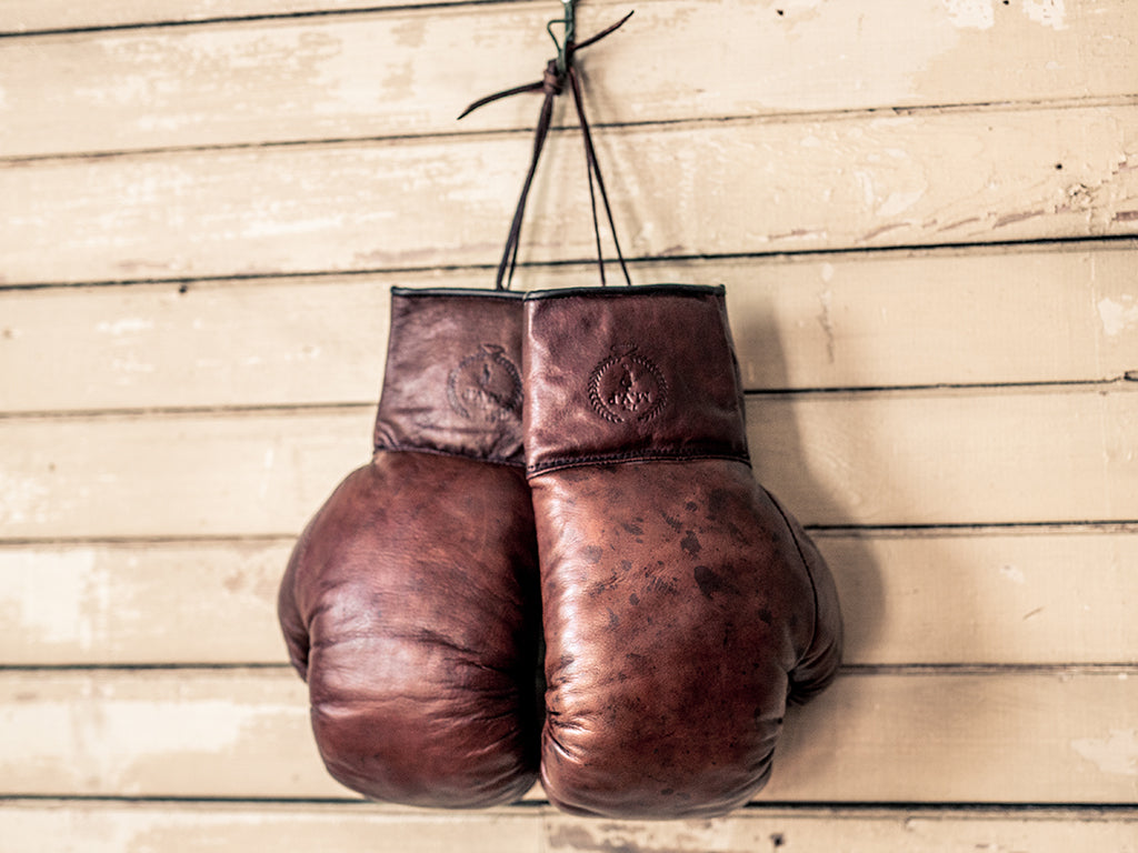 Vintage Leather Boxing Gloves | Handmade