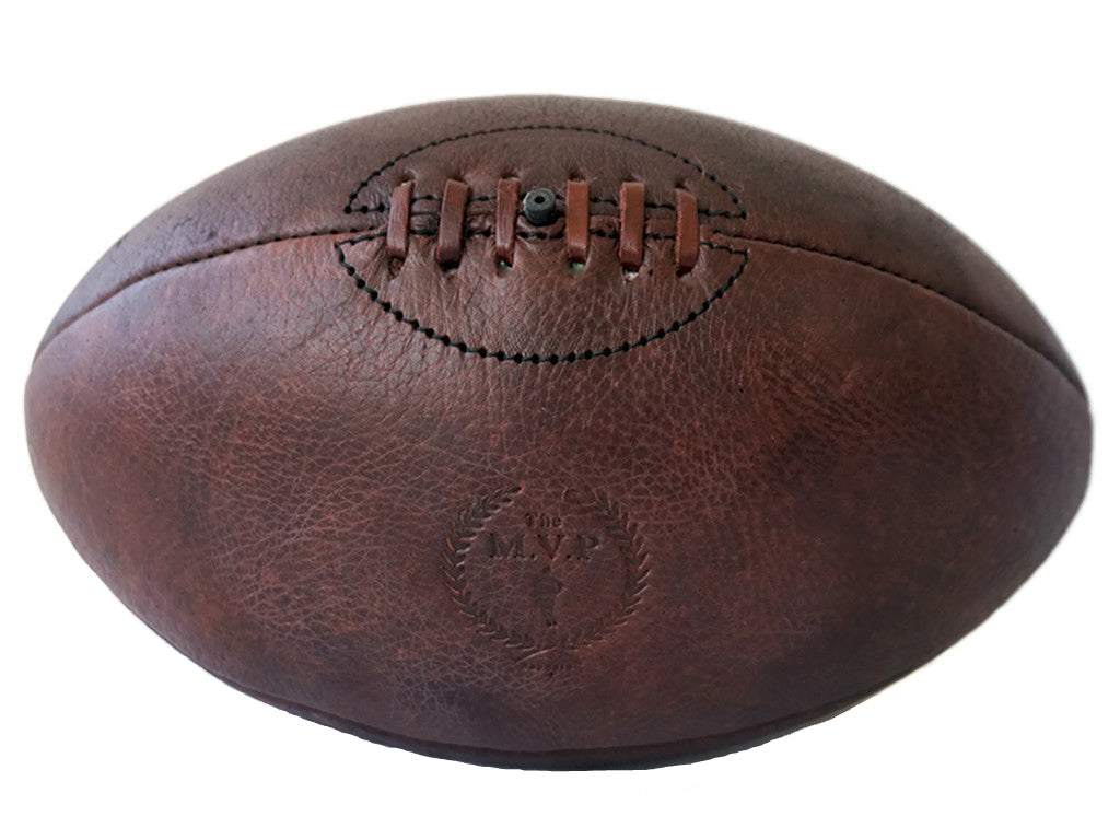 MVP Heritage Brown Leather Handmade Rugby Ball