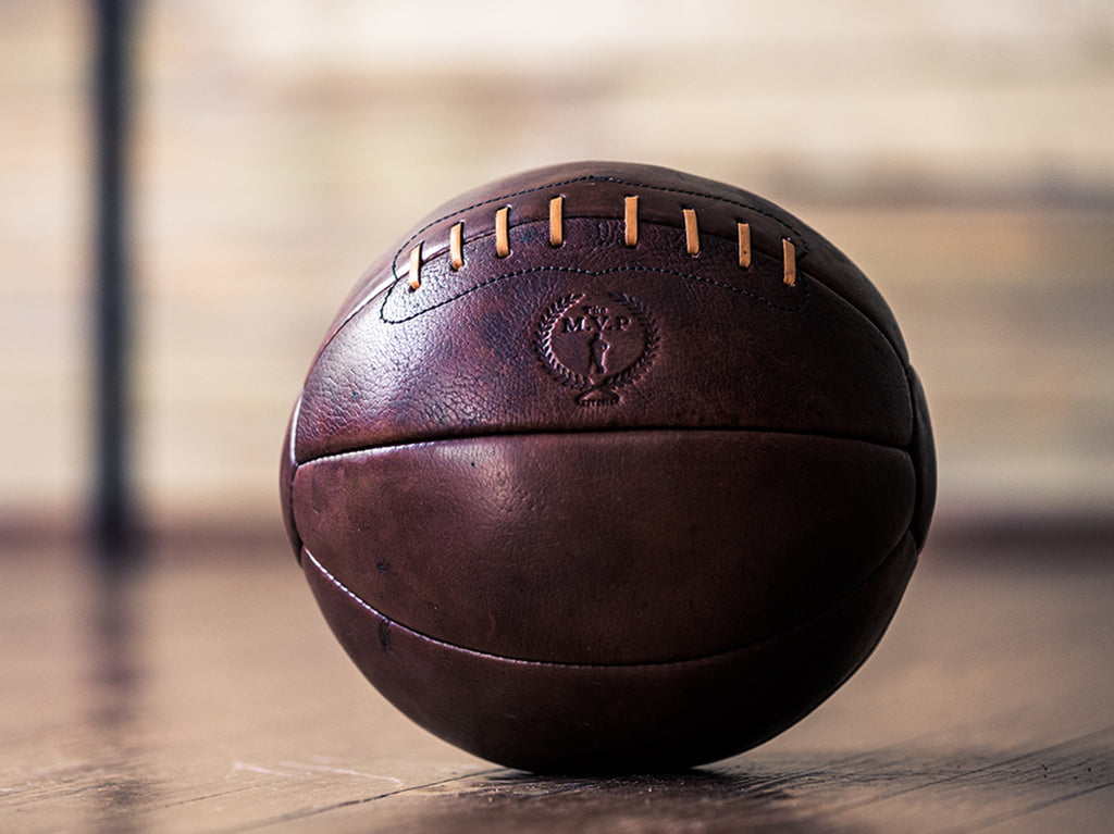 Vintage Retro Leather Medicine Ball | Handmade