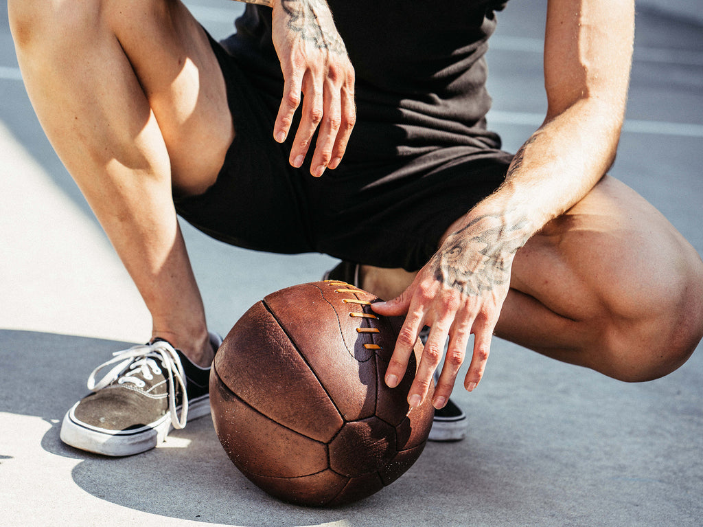 Designer Vintage Leather Medicine Ball Fitness Ball