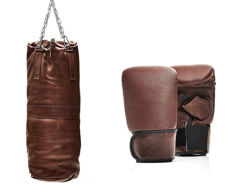 PRO Heritage Brown Leather Boxing Package (Bag Gloves)