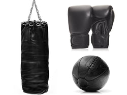 PRO Executive Black Leather Boxing Package (Premium)