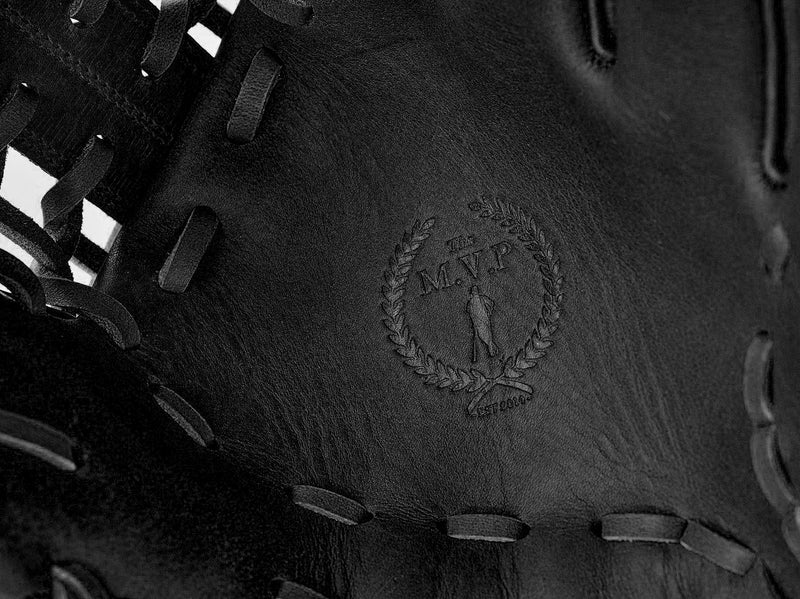 PRO Executive Black Leather Baseball Glove, Outfield
