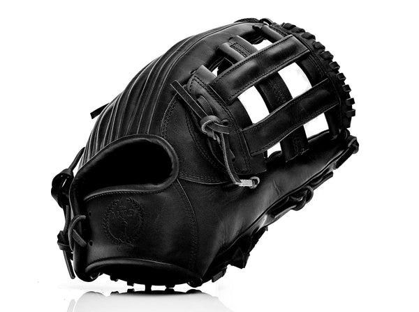 PRO Executive Black Leather Baseball Glove, Infield