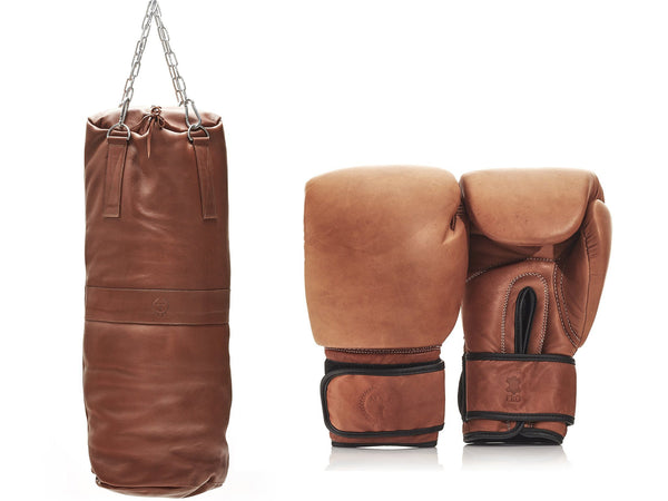 PRO Deluxe Tan Leather Boxing Package