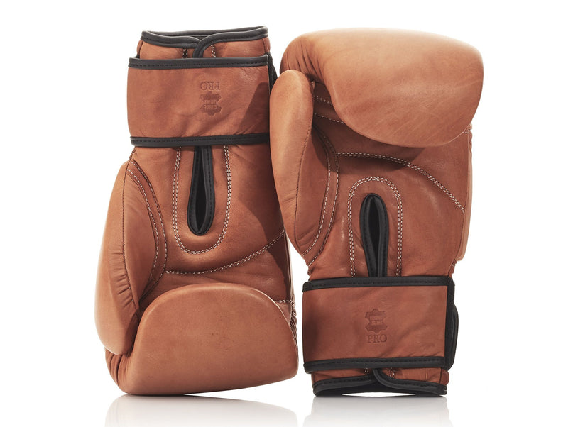PRO Deluxe Tan Leather Boxing Package (Strap Up)