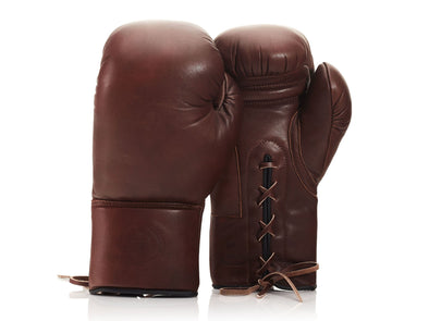 RETRO Heritage Brown Leather Boxing Gloves (Lace Up)