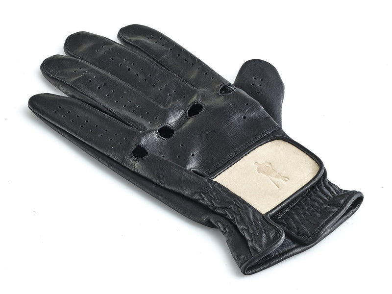PRO Executive Black / Cream Leather Golf Glove (L/H)