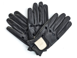 PRO Executive Black / Cream Leather Golf Gloves (3 Pack)