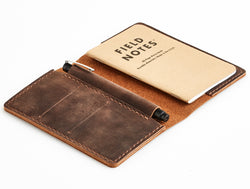 Heritage Leather Field Notes Cover + Book