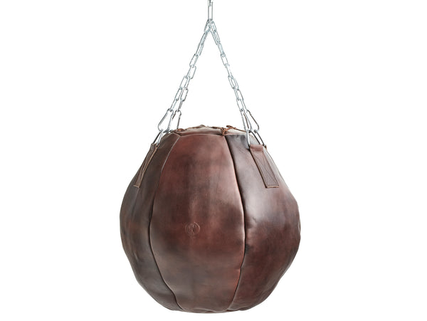 Heritage Brown Leather Wrecking Ball (un-filled)