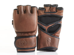 PRO Heritage Brown Leather MMA Gloves
