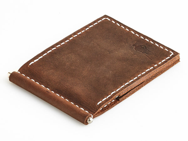 Heritage Brown Leather Moneyclip Wallet
