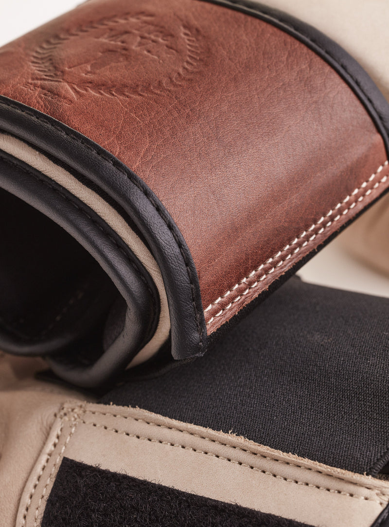 PRO Cream / Brown Leather Bag Gloves