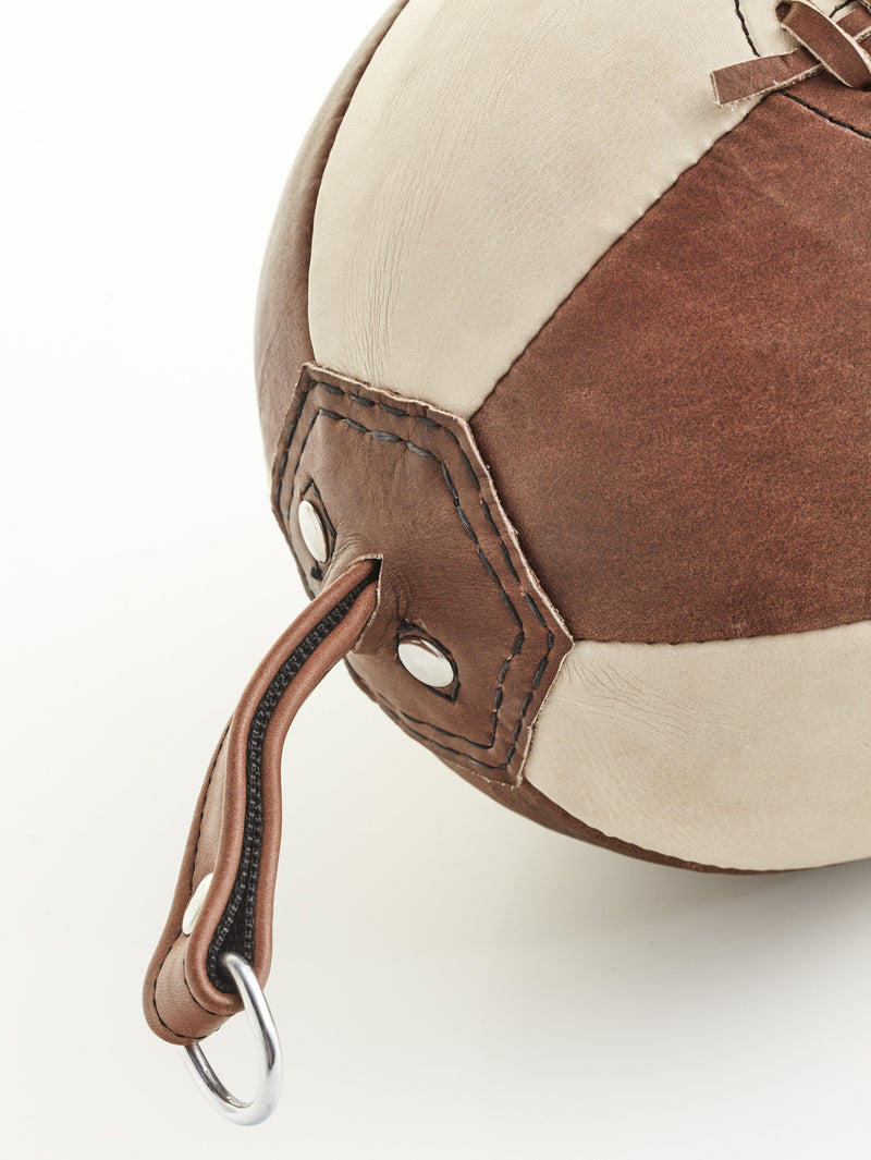 PRO Brown / Cream Leather Boxing Speed Ball, Double End