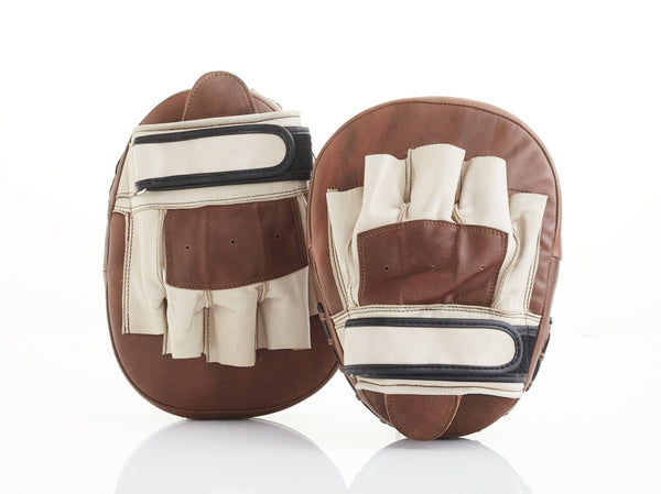 PRO Cream / Brown Leather Focus Pads