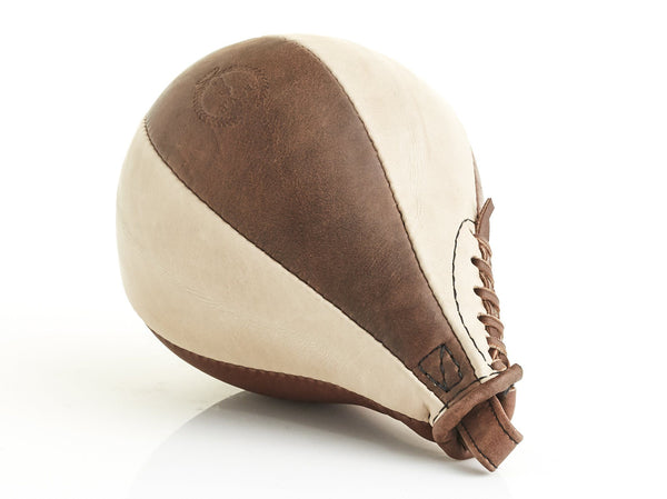 PRO Cream / Brown Leather Boxing Speed Ball