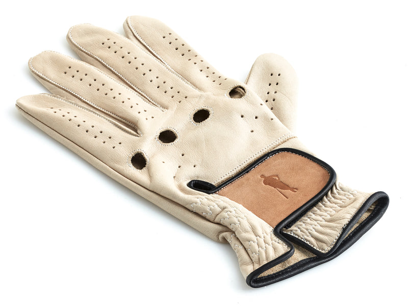 PRO Cream / Tan Leather Golf Glove (L/H)