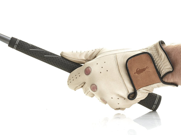 PRO Cream / Tan Leather Golf Gloves (3 Pack)