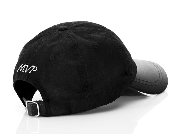 Executive Black Leather Baseball Cap