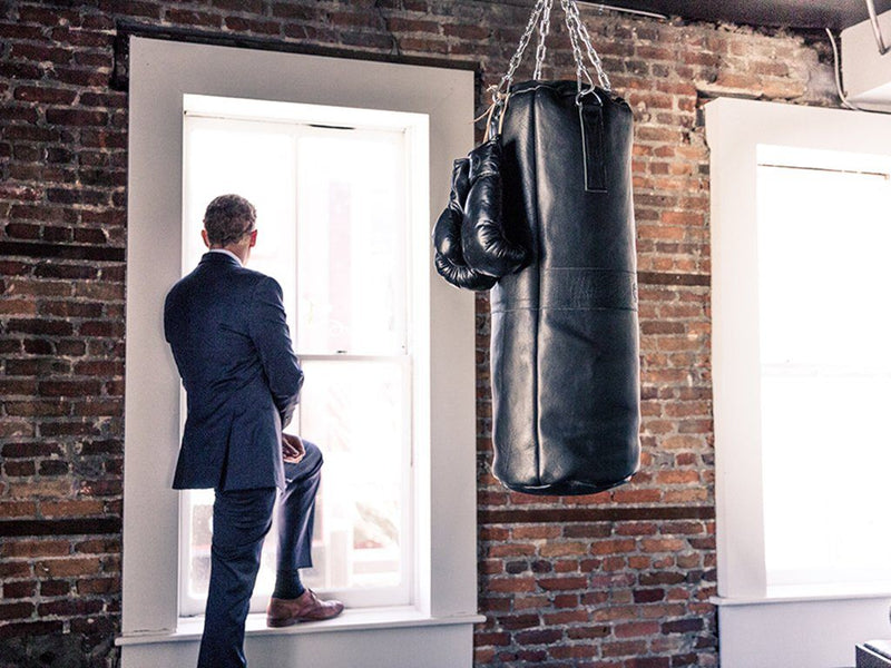 RETRO Executive Black Leather Boxing Package (Premium)