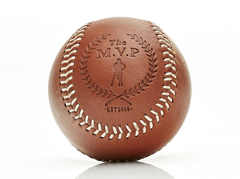 MVP Baseball - Deluxe Leather Baseball, White Stitch