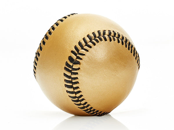 MVP Baseball - Gold Leather Baseball, Black Stitch
