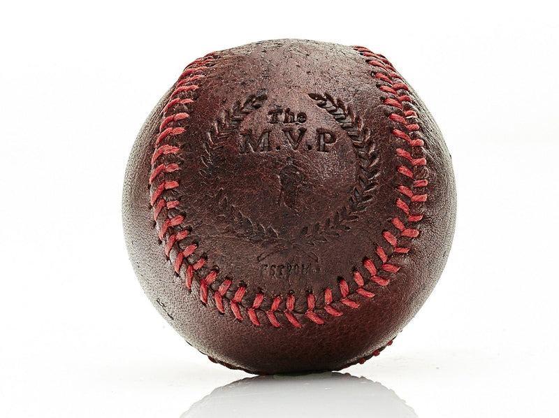 MVP Baseball - RETRO Heritage Brown Leather Baseball, Red Stitch