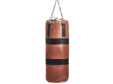 MVP Boxing - Deluxe Leather Heavy Punching Bag, Black Trim (un-filled)