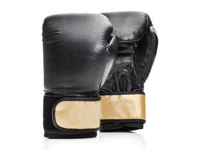 MVP Boxing - Executive Leather Boxing Gloves, Gold Strap