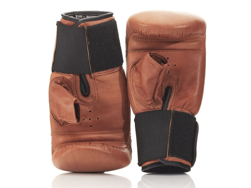 PRO Deluxe Tan Leather Boxing Package (Bag Gloves)