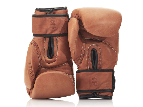 MVP Boxing - PRO Deluxe Tan Leather Boxing Gloves (Strap Up)