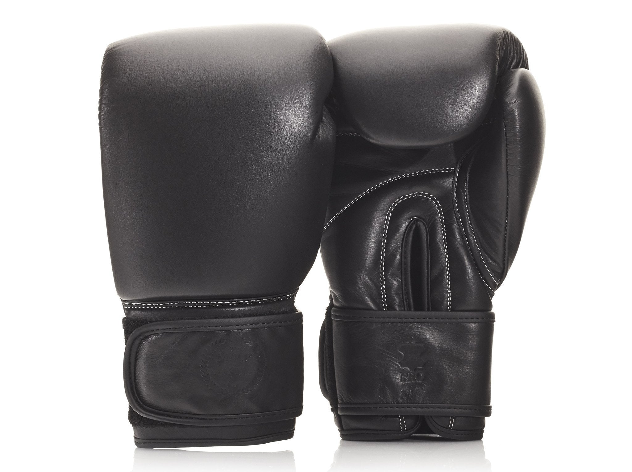 ef411bb24 PRO Executive Black Leather Boxing Gloves (Strap Up) -