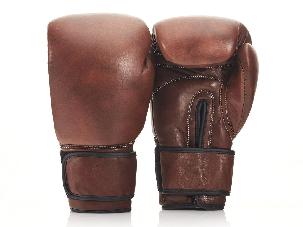 Designer Brown Leather Boxing Gloves Vintage Style Handmade ...