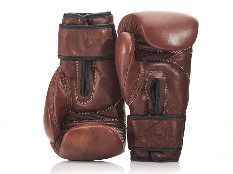 PRO Heritage Brown Leather Boxing Glove / Pad Set