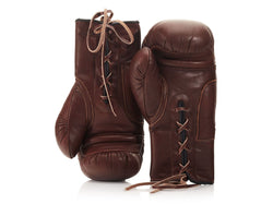 MVP Boxing - RETRO Heritage Brown Leather Boxing Gloves (Lace Up)